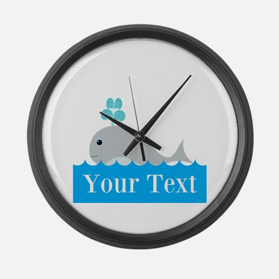 Personalizable Gray Whale Large Wall Clock