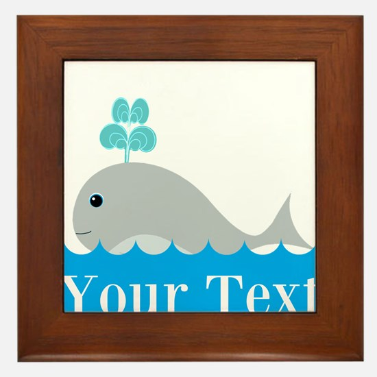 Personalizable Gray Whale Framed Tile