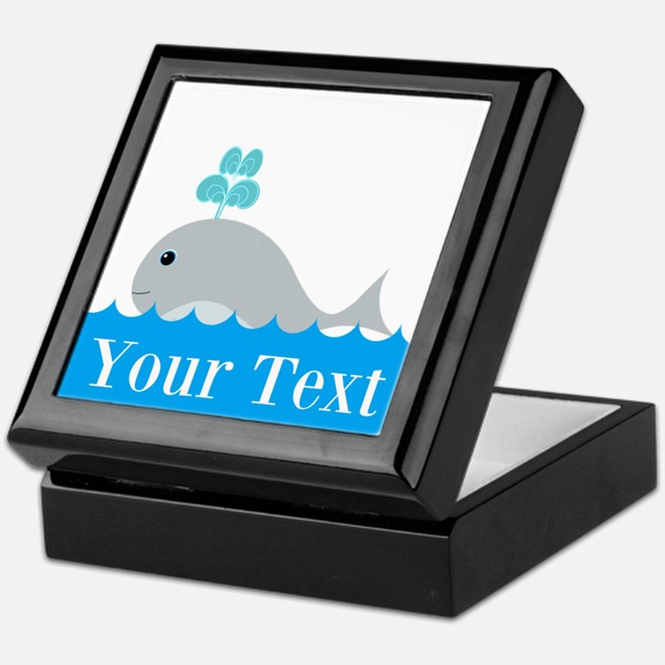 Personalizable Gray Whale Keepsake Box