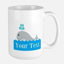 Personalizable Gray Whale Mugs