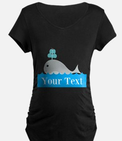 Personalizable Gray Whale Maternity T-Shirt