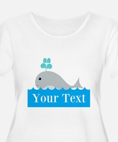 Personalizable Gray Whale Plus Size T-Shirt