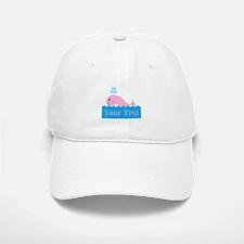 Personalizable Pink Whale Baseball Baseball Baseball Cap
