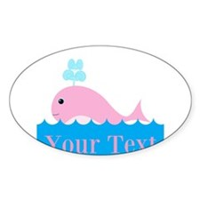 Personalizable Pink Whale Decal