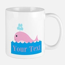 Personalizable Pink Whale Mugs