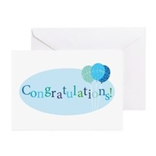 Baby Boy Congrats Greeting Cards (pk Of 10)