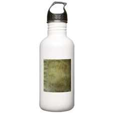 Antique stained paper texture Water Bottle