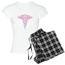 Pink Medical Caduceus Pajamas