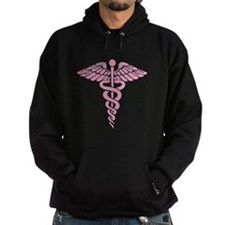 Pink Medical Caduceus Hoody