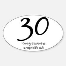 30th Birthday Oval Decal