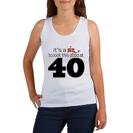 Look This Good At 40 Women's Tank Top
