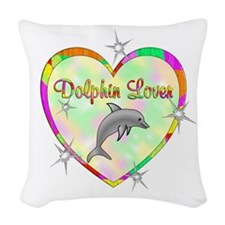 Dolphin Lover Woven Throw Pillow