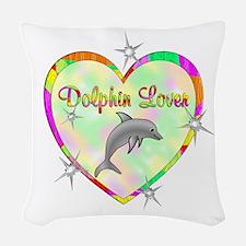 Dolphin Lover Woven Throw Pillow