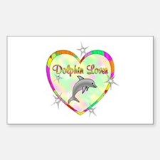 Dolphin Lover Sticker (Rectangle)