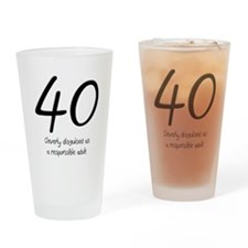 40th Birthday Pint Glass