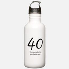 40th Birthday Water Bottle