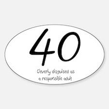 40th Birthday Decal