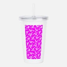 Pink Floral Wonder Acrylic Double-Wall Tumbler