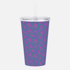 Floral Gray Today Acrylic Double-Wall Tumbler