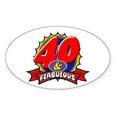 40 and Flablulous Decal