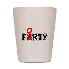 Farty Forty Birthday Shot Glass