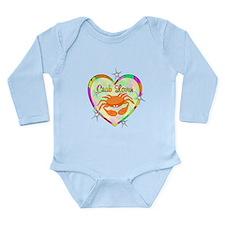 Crab Lover Long Sleeve Infant Bodysuit