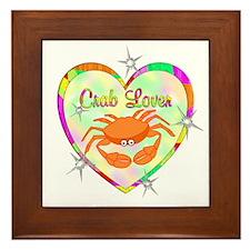 Crab Lover Framed Tile