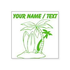 Custom Surf Beach Sticker
