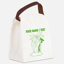 Custom Surf Beach Canvas Lunch Bag