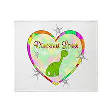 Dinosaur Lover Throw Blanket