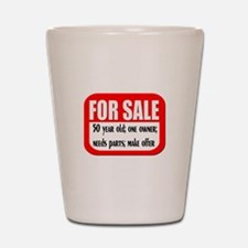 For Sale 50th Birthday Shot Glass