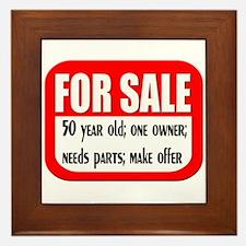 For Sale 50th Birthday Framed Tile