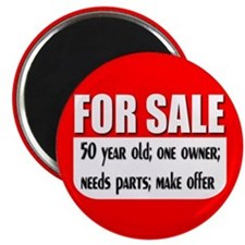 For Sale 50th Birthday Magnet