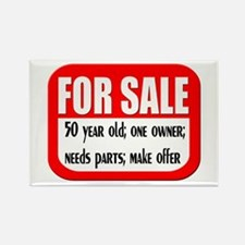 For Sale 50th Birthday Rectangle Magnet