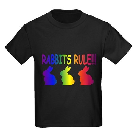 Rabbits Rule Kids Dark T-Shirt