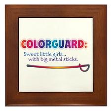 Sweet Girls / Big Metal Sticks Framed Tile