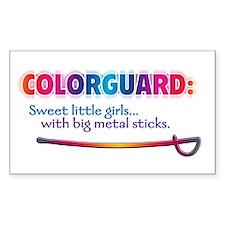 Sweet Girls / Big Metal Sticks Sticker (Rectangula