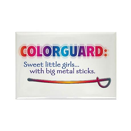 Sweet Girls / Big Metal Sticks Rectangle Magnet