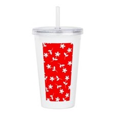 Red Floral Sway Today Acrylic Double-Wall Tumbler
