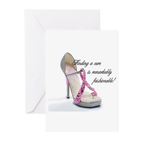 Fashionable Cure Greeting Cards (Pk of 10)