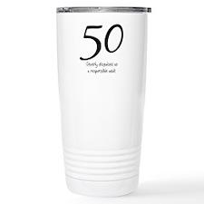 50th Birthday Disguise Thermos Mug