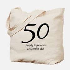 50th Birthday Disguise Tote Bag