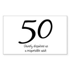 50th Birthday Disguise Decal