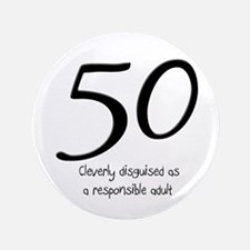 "50th Birthday Disguise 3.5"" Button"