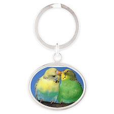 Parakeet Oval Keychain