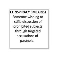 "Smearists      Square Sticker 3"" x 3"""