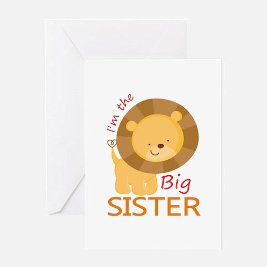 Big Sister Cute Lion Greeting Card