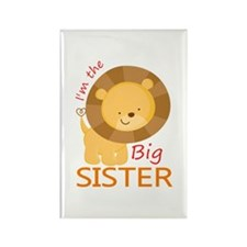 Big Sister Cute Lion Rectangle Magnet