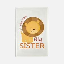 Big Sister Cute Lion Rectangle Magnet
