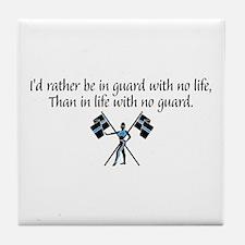 I'd Rather... Tile Coaster